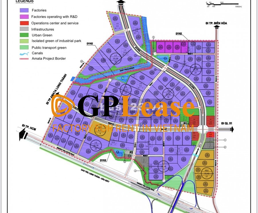 Industrial land for lease in Long Thanh Industrial Park